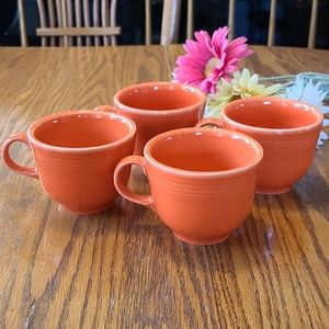 4 Fiesta coffee cups - orange
